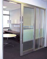 Interior sliding door glass magazine for Commercial interior sliding glass doors