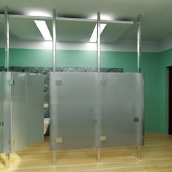 Frameless Restroom Partitions Glass Magazine