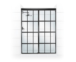 The Gridscape Series From Coastal Shower Doors Offers A Modern Design With Oil Rubbed Bronze Panes And Crystal Clear Gl Designed Door