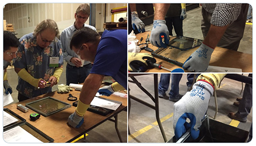 Images from the IG forensic investigation session at the IGMA IG Fabricator Workshop