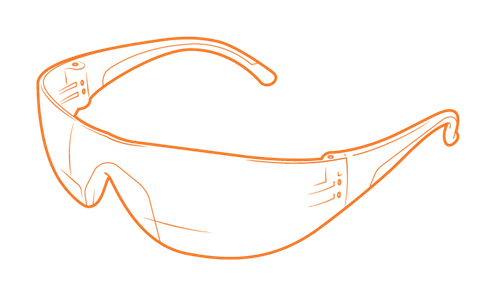 Safety glasses illustration