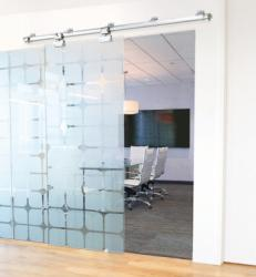 Johnson Hardware Introduced The 200WG Wall Mount Sliding Glass Door Hardware,  Designed To Handle ½ Inch Glass Door Panels Up To 400 Pounds And 4 Feet  Wide.