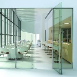 The DRS 1202 Series Interior Glass Door System Is A One Of A Kind Entrance  System That Requires No Top Or Bottom Rail, Resulting In A Distinct All  Glass ...