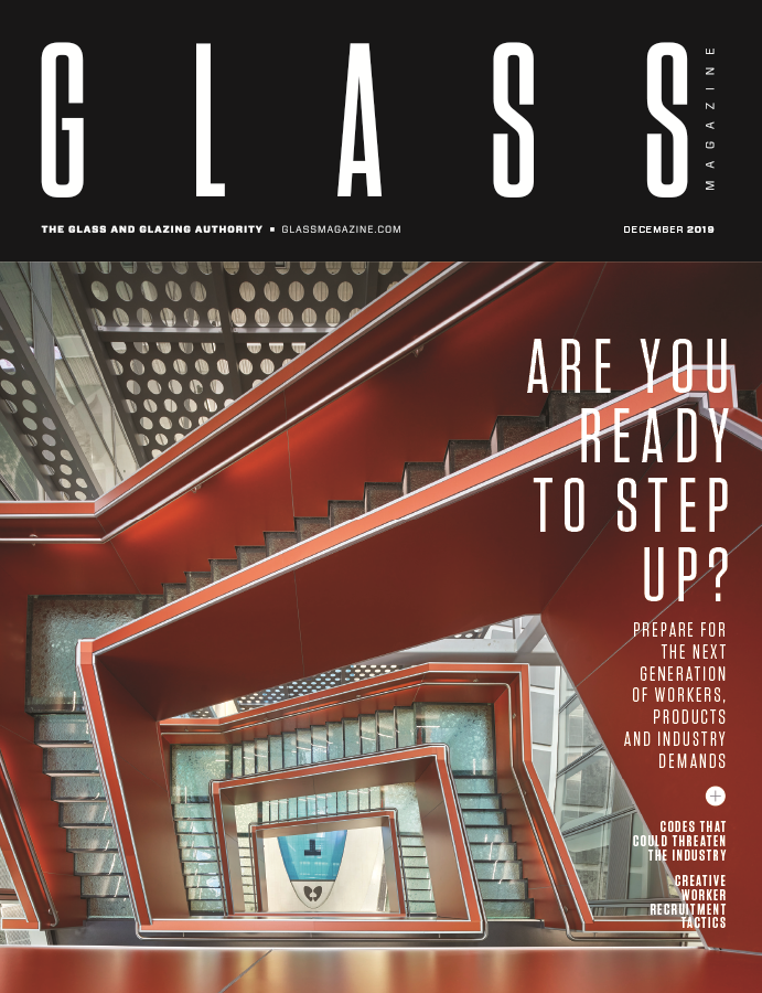 Cover of December 2019 issue of Glass magazine