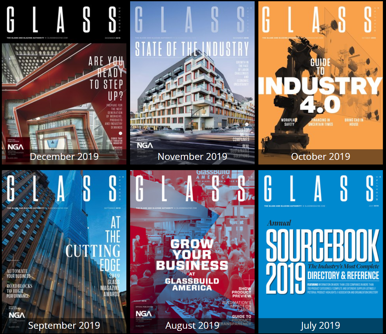 Glass Magazine issue archive