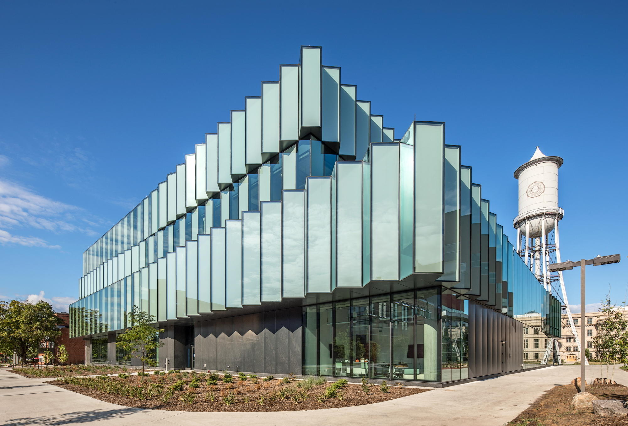 Student Center Features Pleated Curtain Wall