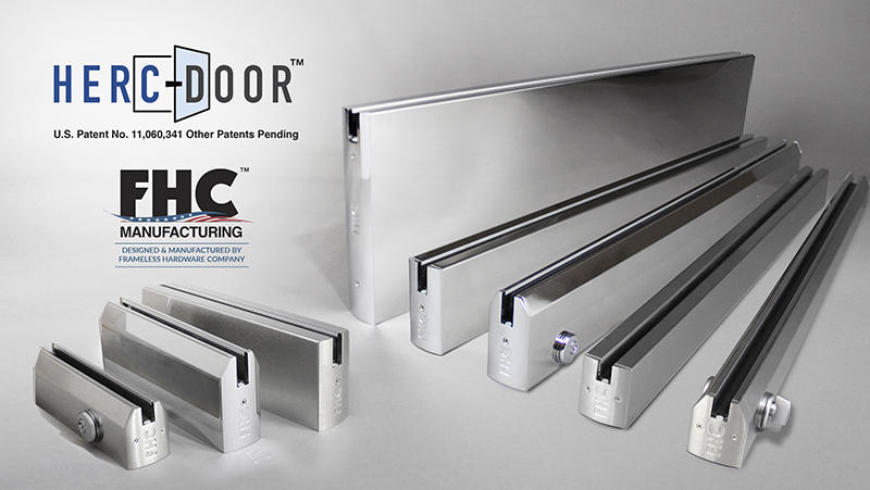 FHC Receives U.S. Patent for Advance Series HERC-DOOR Frameless Door Rail System