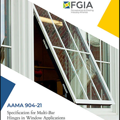 FGIA Releases Updated Document Covering Methods of Test for Multi-bar Hinges in Windows