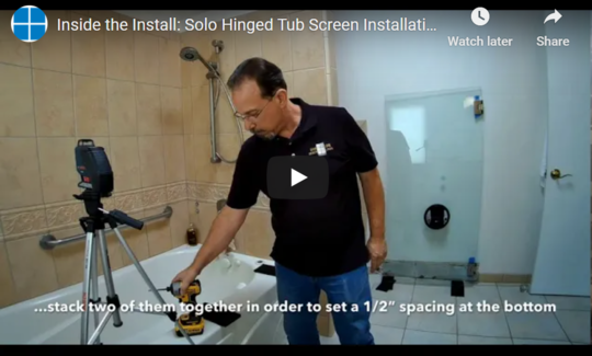 Inside the Install: Solo Hinged Tub Screen